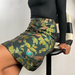 Embroidered Jewel-Tone Skirt